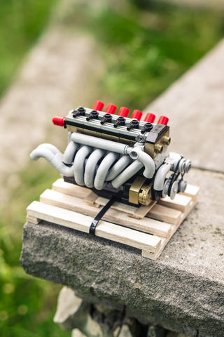 BMW M88 engine lego model outdoors