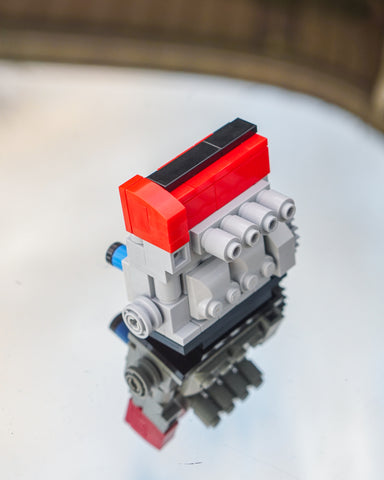 Red Honda K20 K24 lego engine model