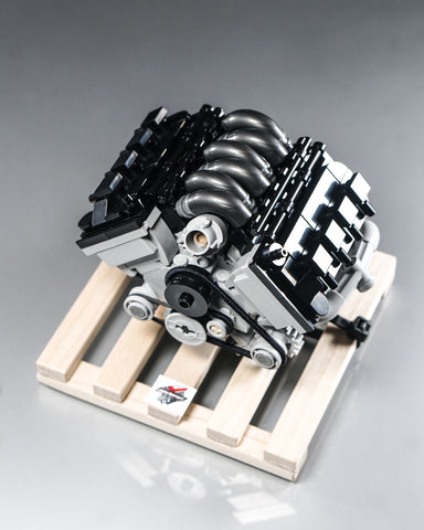 Ford Mustang 5.0 coyote engine lego model