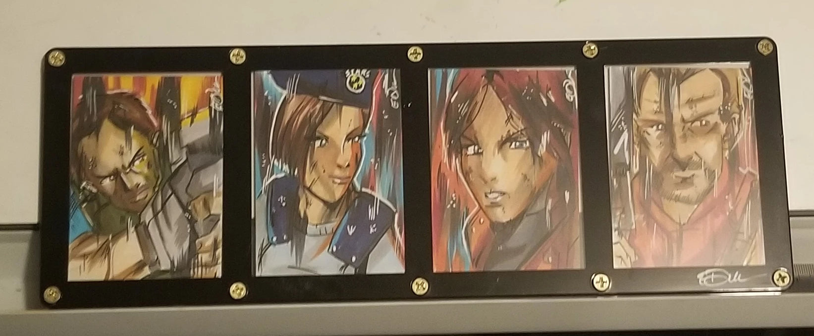 Framed Sketch Cards (4 Cards)