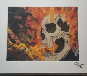 Original Art (Ghost Rider Mixed Media)