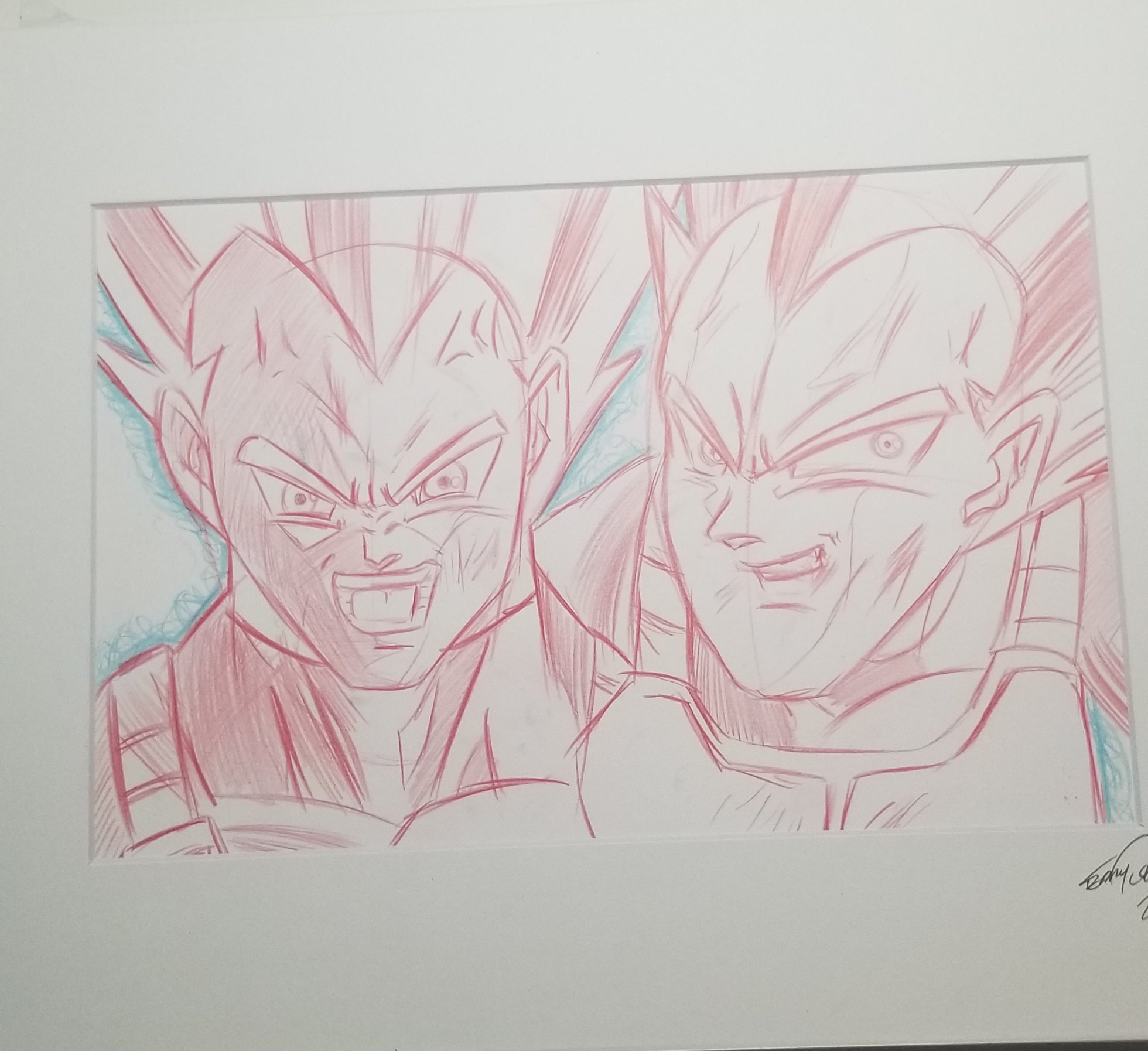 Original Art (Vegeta Sketch)