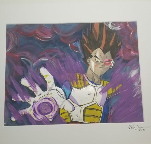 Original Art (Vegeta Mixed Media)