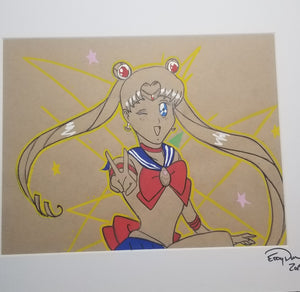 Original Art (Sailor Moon Mixed Media)
