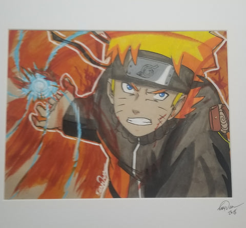 Original Art (Naruto Mixed Media)