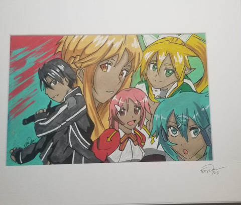 Original Art (Sword Art Online Mixed Media)