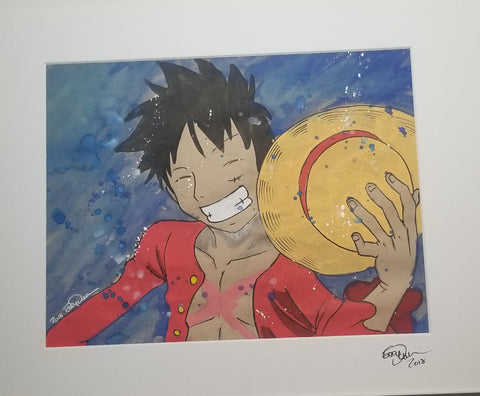 Original Art (Luffy Mixed Media)