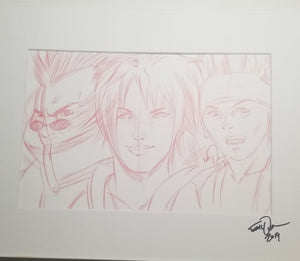 Original Art (Auron, Tidus, Wakka Sketch)