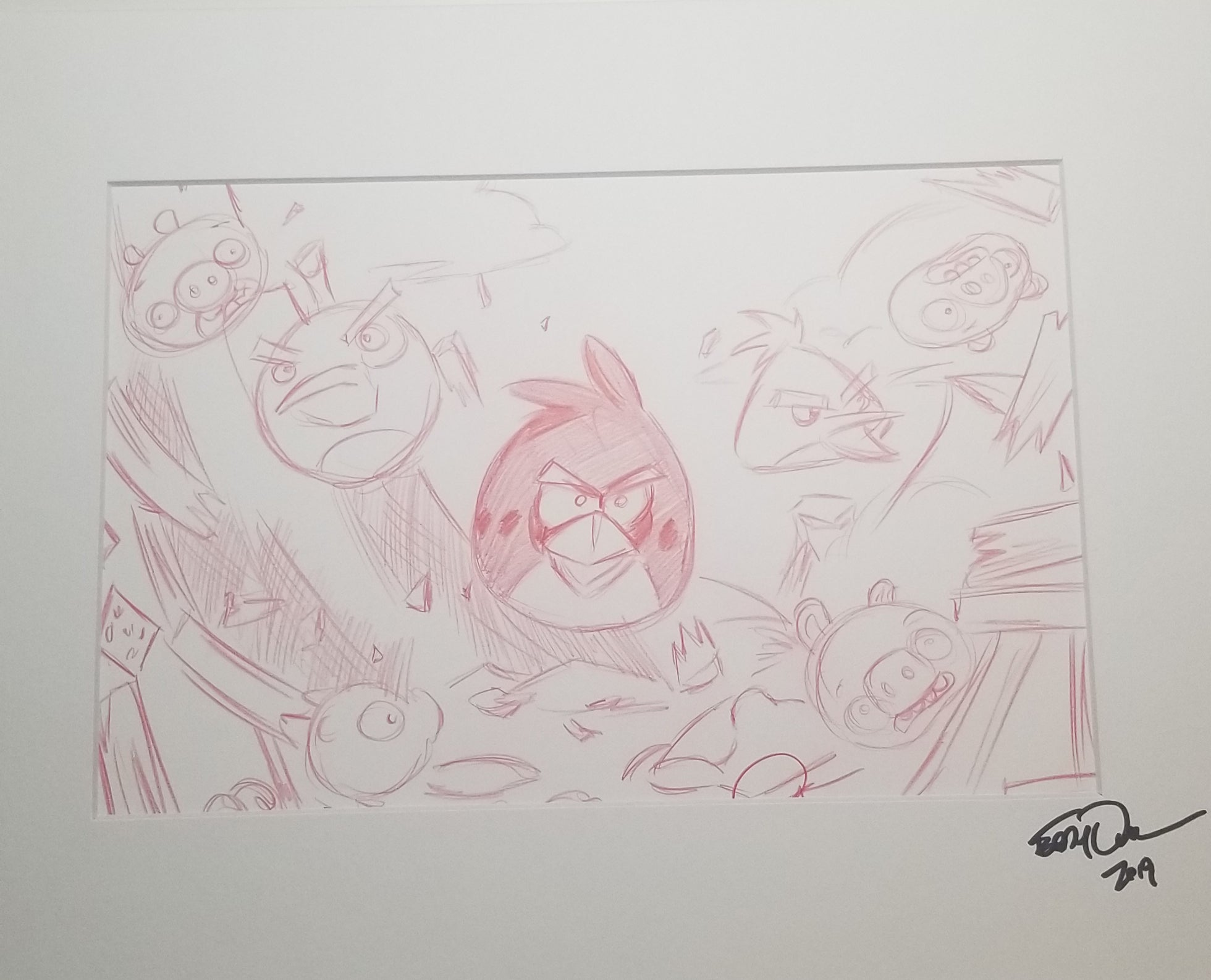 Original Art (Angry Birds Sketch)