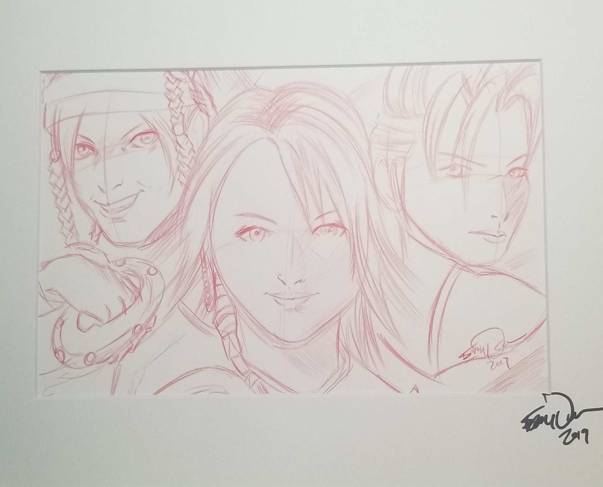 Original Art (Rikku, Yuna, Pain Sketch)
