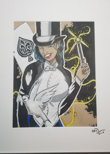 Original Art (Zatanna Mixed Media)