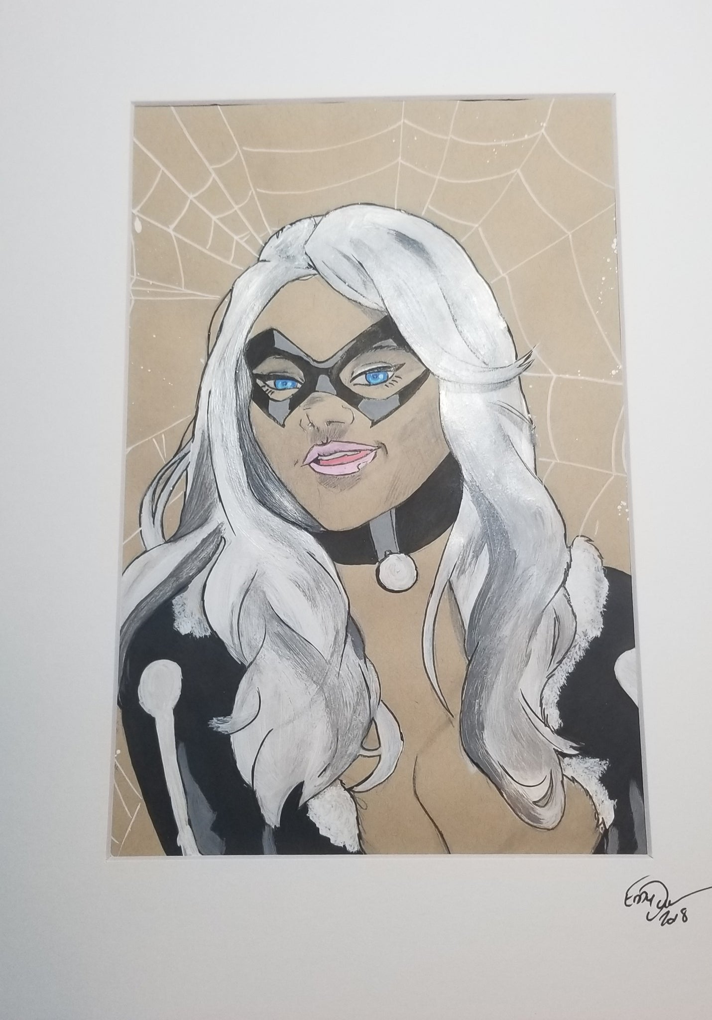 Original Art (Black Cat Mixed Media)