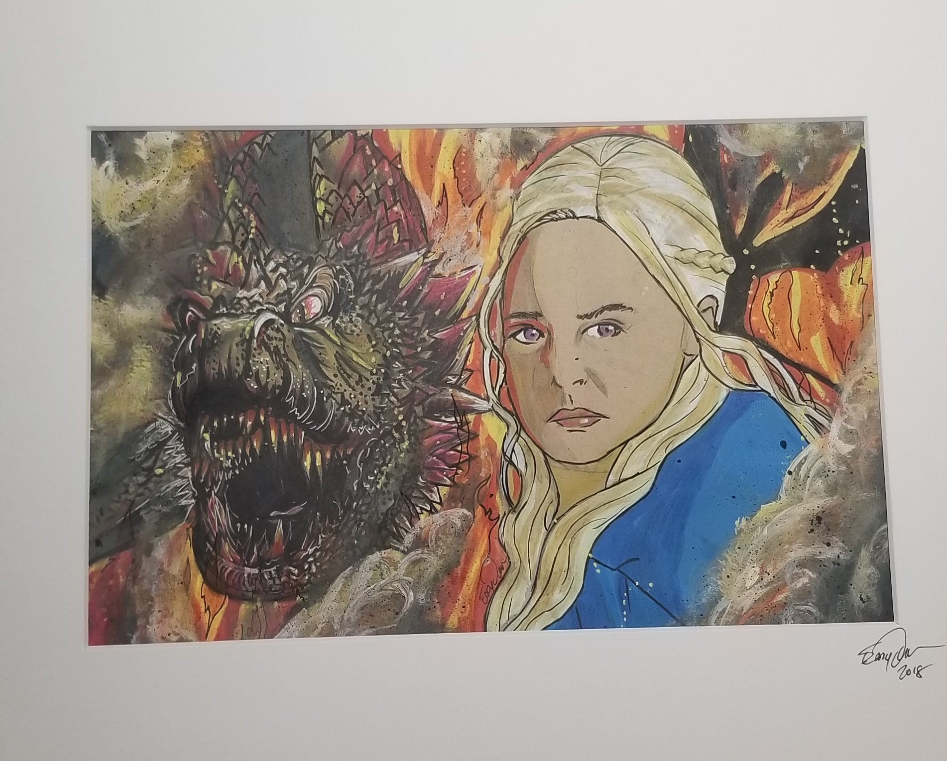 Original Art (Khaleesi Mixed Media)