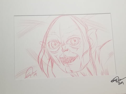Original Art (Gollum Sketch)