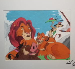 Original Art (Lion King Mixed Media)