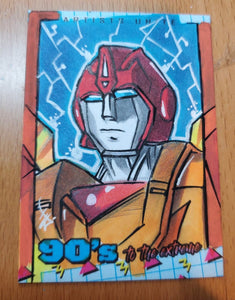 Hot Rod Sketch Card (Transformers)