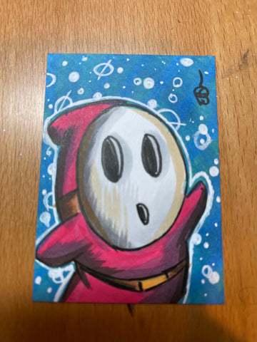 Shy Guy (Mario) Sketch Card