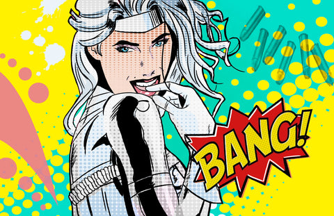 Silver Sable Pop Art