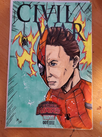 Spiderman Sketch Cover