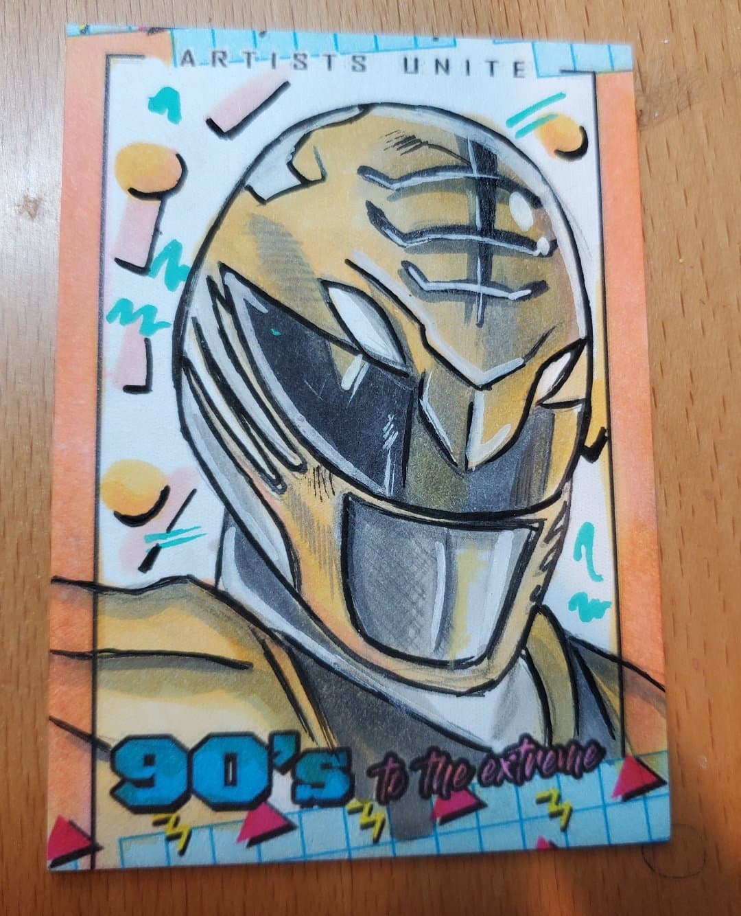 White Ranger (Power Rangers) Sketch Card