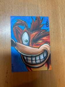 Crash Bandicoot Sketch Card