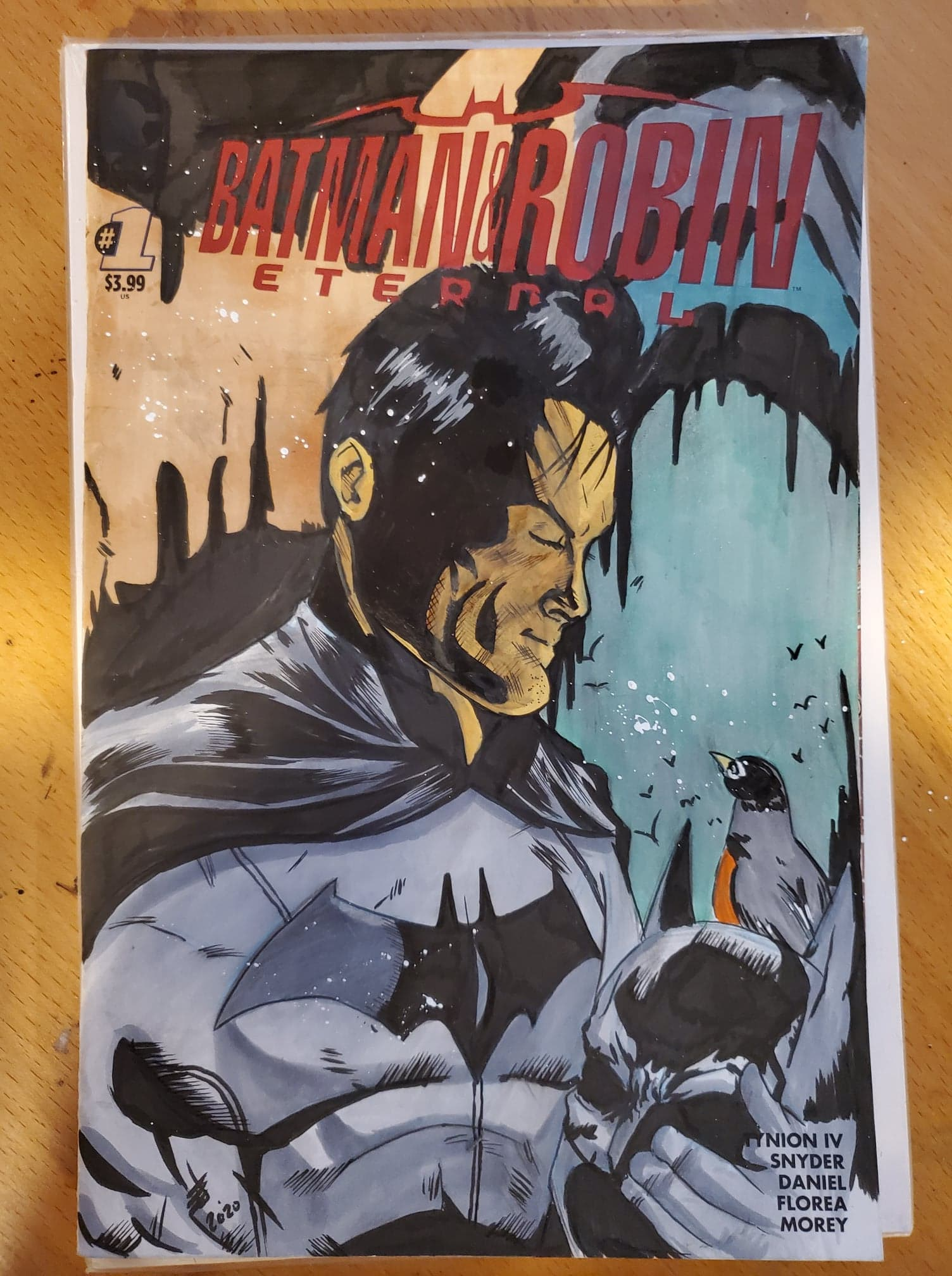 Batman and Robin Sketch Cover