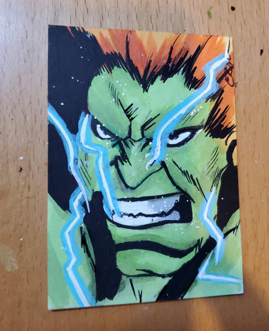 Blanka (Street Fighter) Sketch Card
