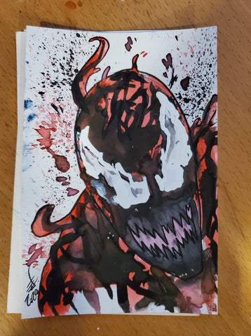 Carnage Watercolor Card
