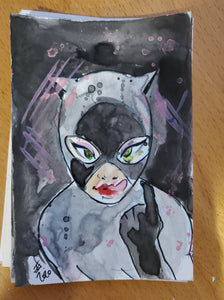 Catwoman Watercolor Card (Batman)