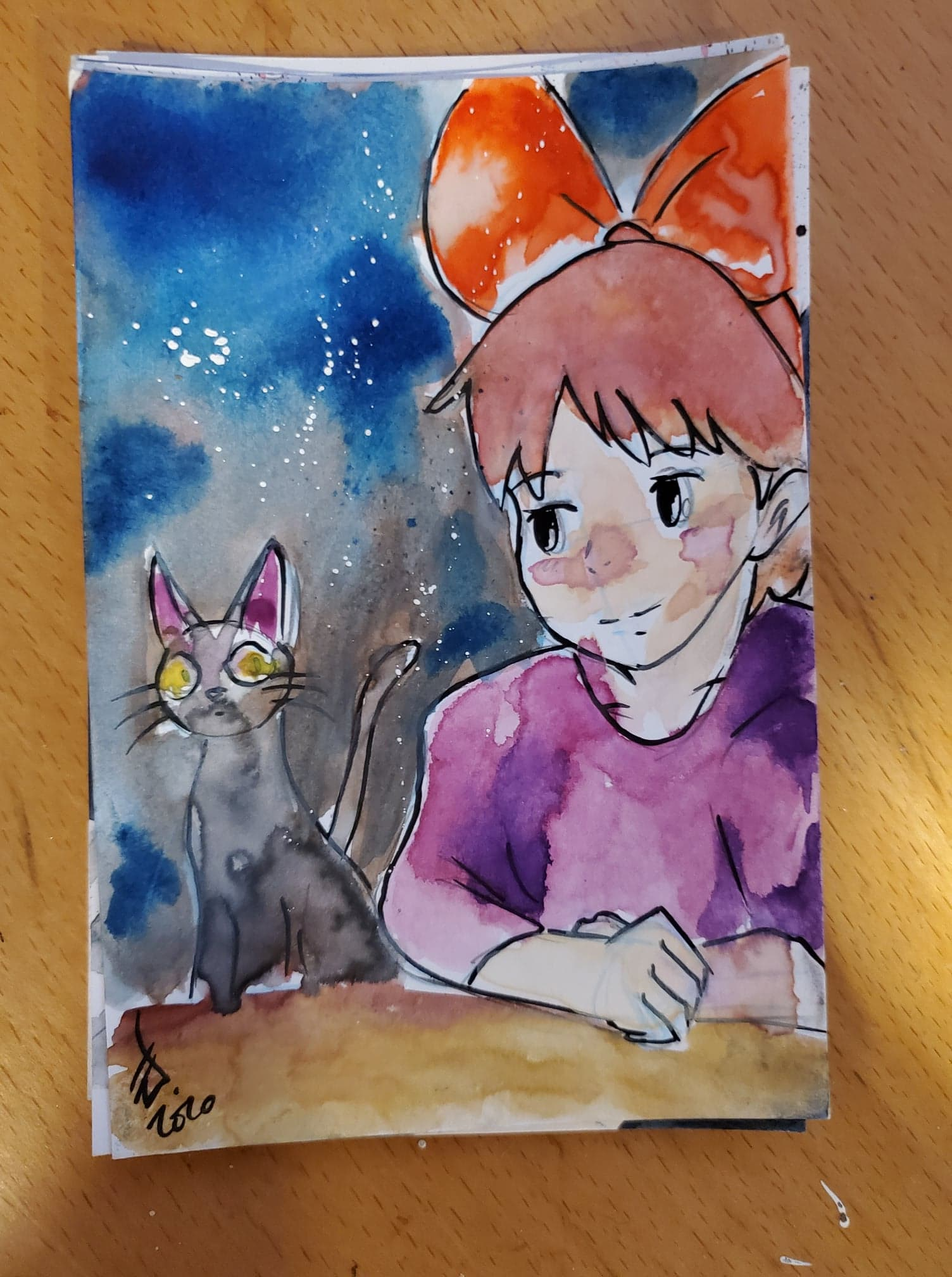 Kiki Watercolor Card (Kiki's Delivery Service)