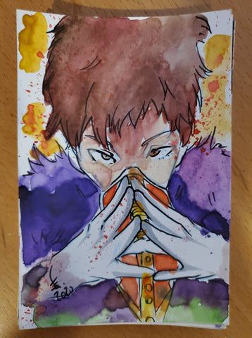 Overhaul Watercolor Card (My Hero Academia)