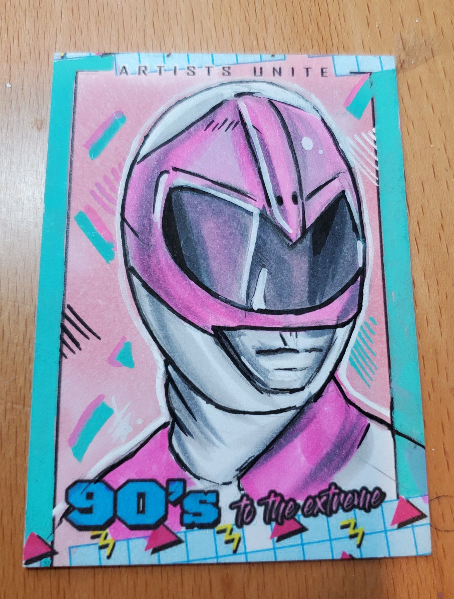 Pink Ranger Sketch Card