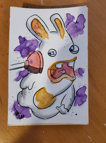 Rabbid Watercolor Card(Rayman)