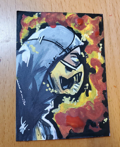 Scorpion Sketch Card (Mortal Kombat)