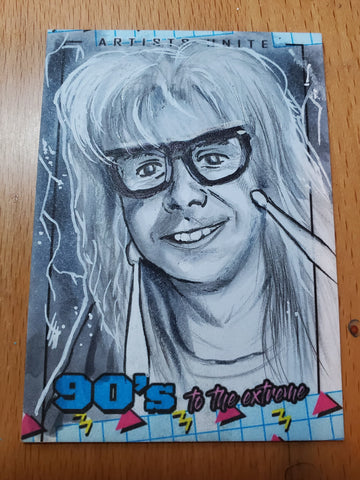 Garth Sketch Card (Wayne's World)