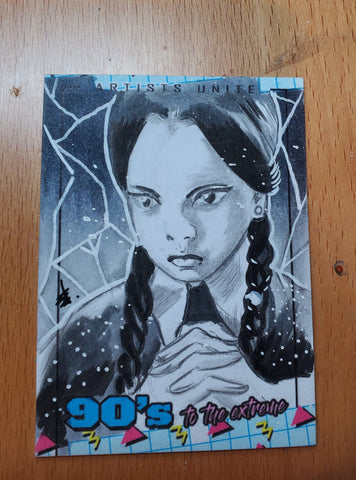 Wednesday Addams (Addams Family) Sketch Card