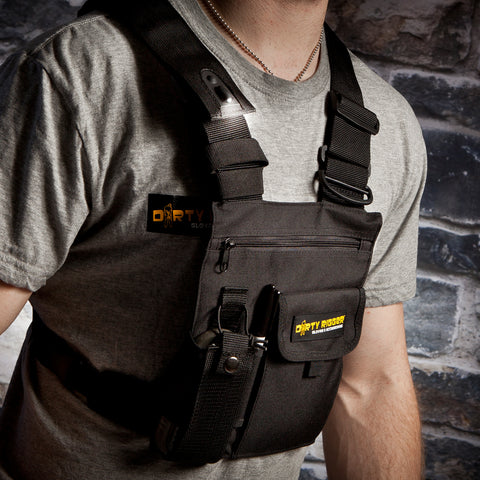 Dirty Rigger LED Chest Rig Radio Pouch