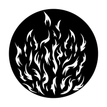 Metal Gobo - Breakup Camp Fire ME-2448