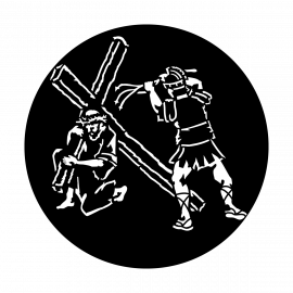Metal Gobo - Easter Carrying Cross ME-3426