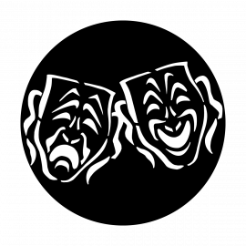 Metal Gobo - Masks Tragedy/Comedy ME-4081-C