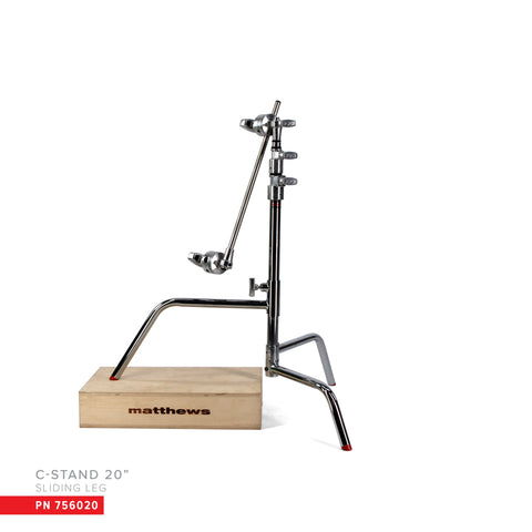 "Matthews 20"" C-Stand w/Sliding Leg, Includes Grip Head & Arm (756020)"