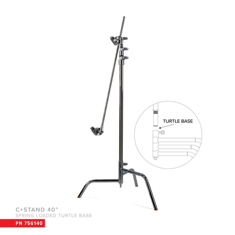 "Matthews 40"" C+Stand w/Spring Loaded Turtle Base, Includes Grip Head & Arm (756140)"