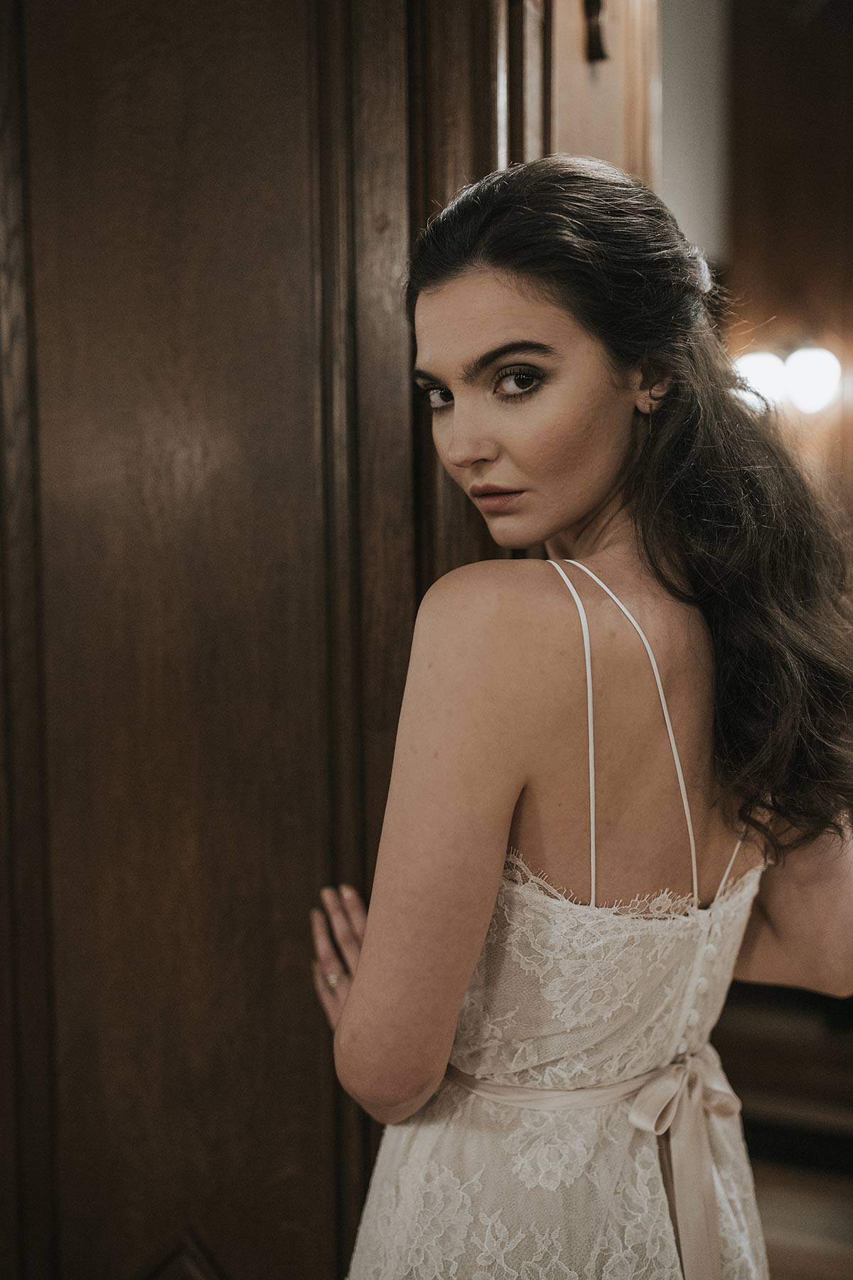 Lavictoire editorial Thetis top wedding dress open back lace and straps
