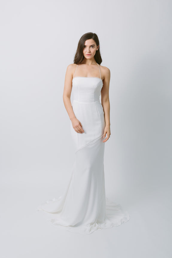 Lavictoire Solstice wedding dress front without skirt