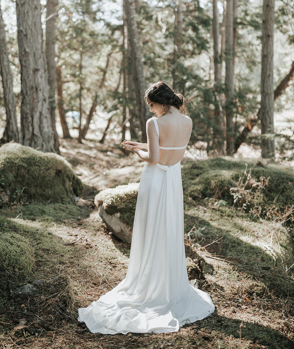 Lavictoire Bella wedding dress back editorial