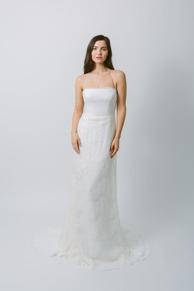 Lavictoire Solstice wedding dress front with skirt