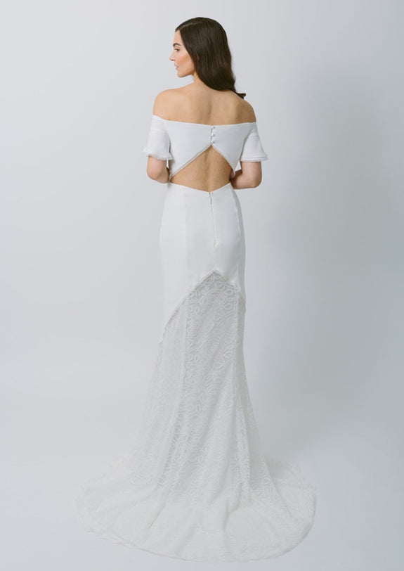 Lavictoire Indigo wedding dress back