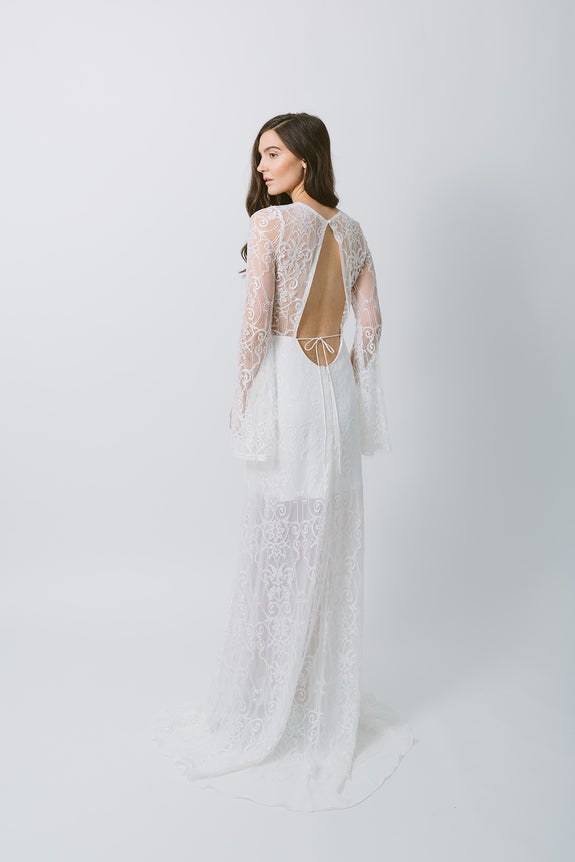 Lavictoire Texada wedding dress back