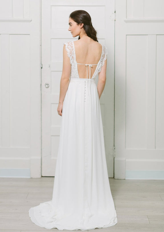 Lavictoire Solange wedding dress open back