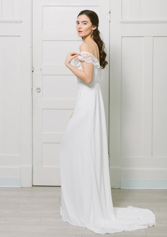 Lavictoire Solange wedding dress side